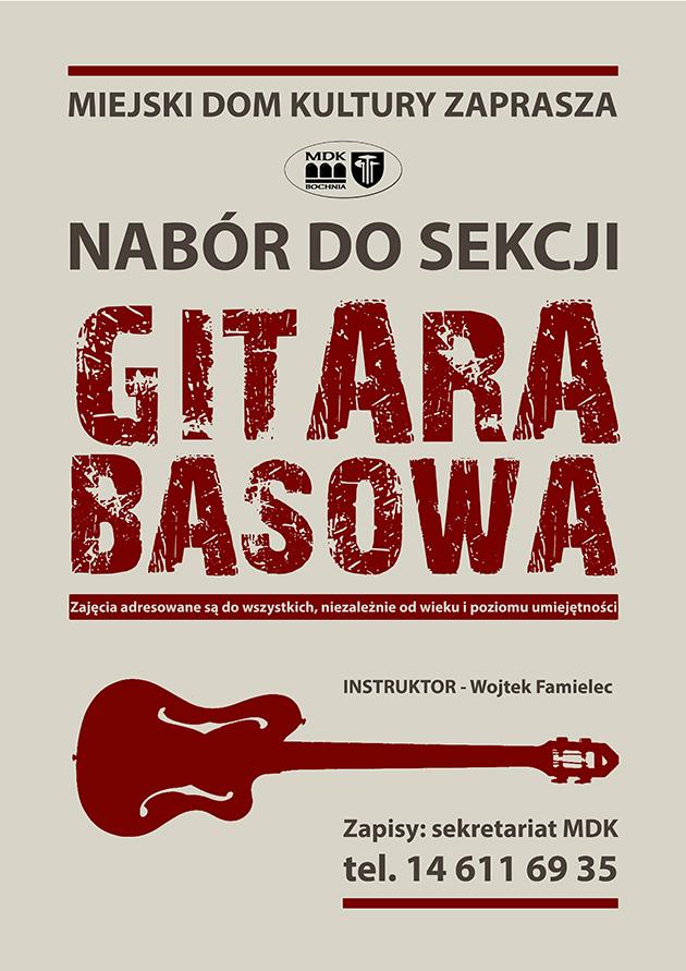 plakat GITARA BASOWA
