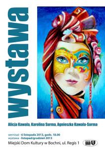 plakat WYSTAWA KAWALA-SURMA