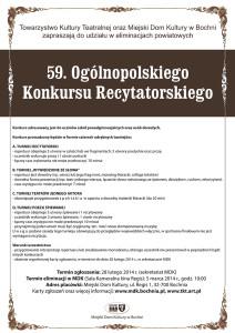59. Ogólnopolski Konkurs Recytatorski