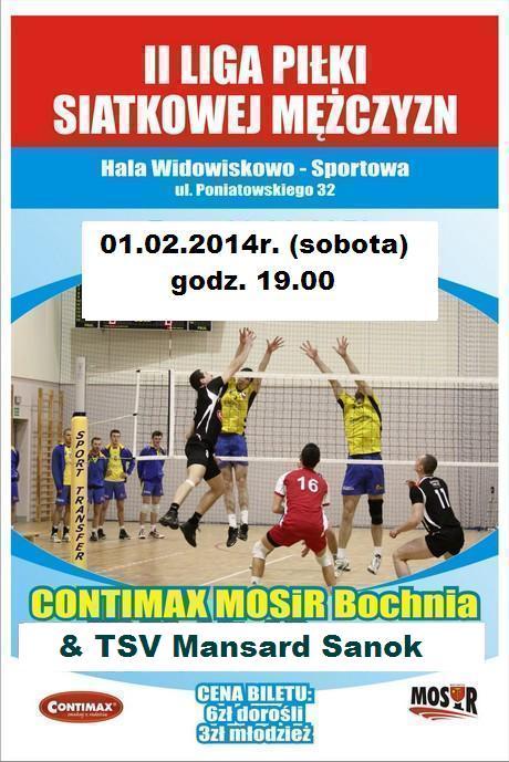 Plakat - mecz siatkówki