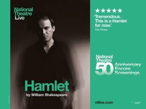 Plakat promujący Hamleta wkinie Regis