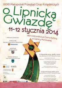 Plakat promujący przegląd grup kolędniczych wLipnicy Murowanej