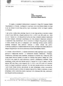 Pismo starostwa doburmistrza Bochni