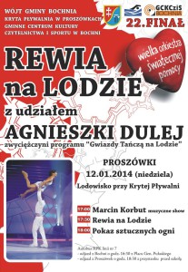 Plakat finału WOŚP wProszówkach