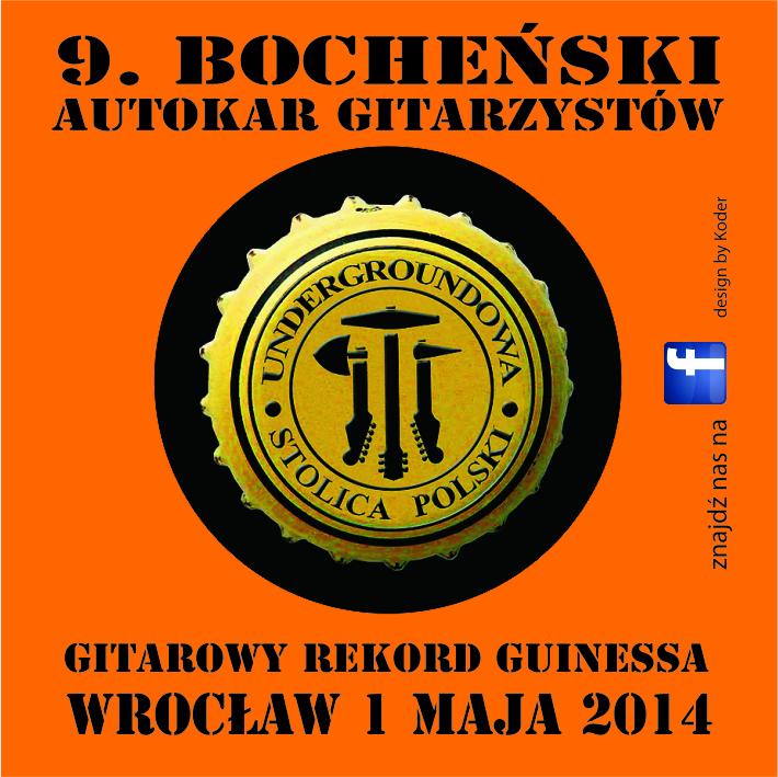 bochenski autokar gitarzystow naklejka 60x60mm