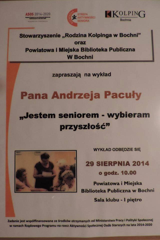 Wykład Andrzeja Pacuły wbibliotece