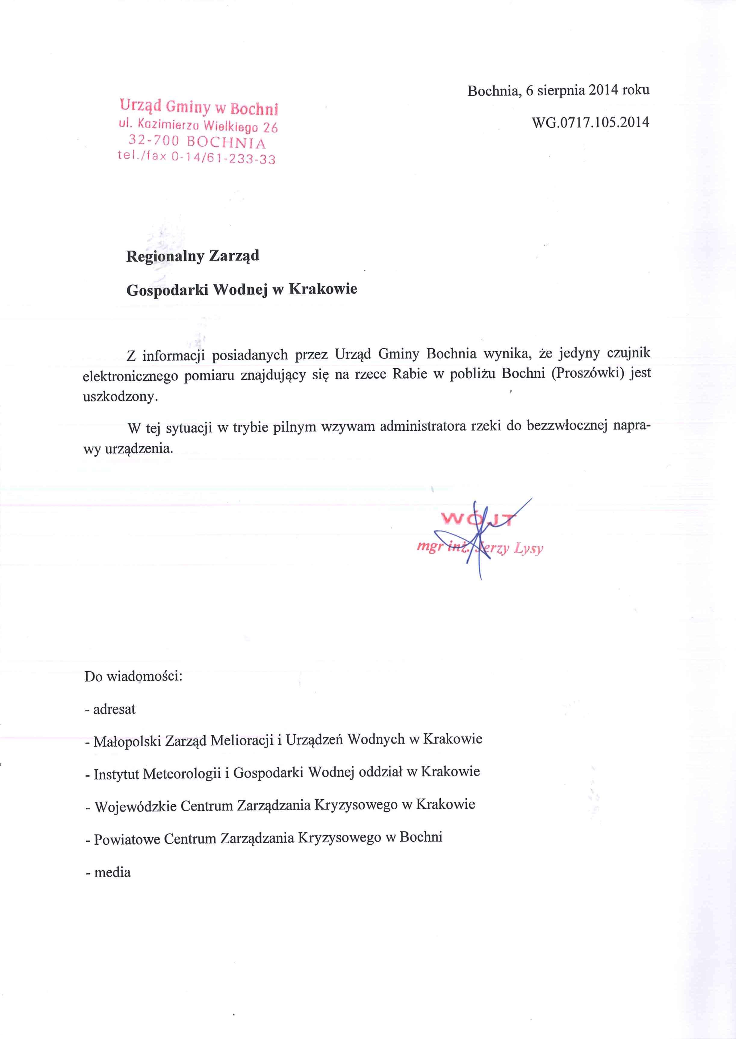 pismo doRZGW