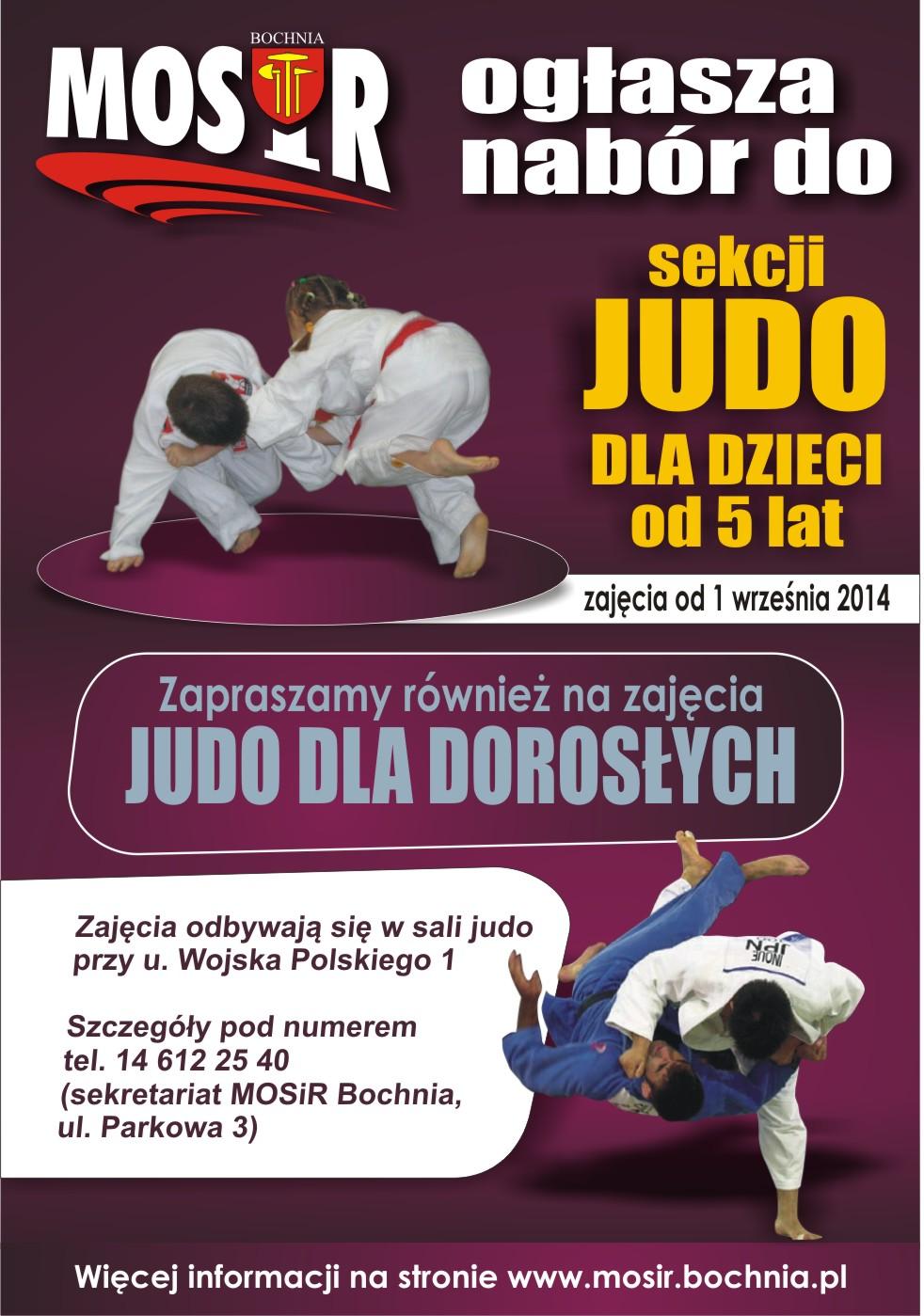 mosir judo zapisy 2014