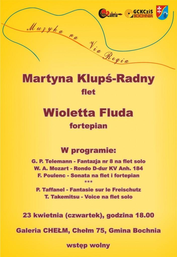 Muzyka naVia regia  - plakat