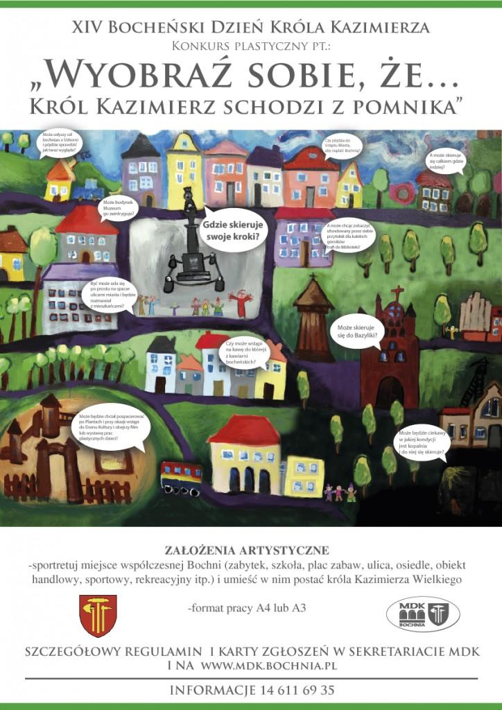 plakat XIV Bocheński Dzień Króla Kazimierza-01