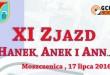 Już w najbliższą niedzielę XI Zjazd HanekAnek i Ann